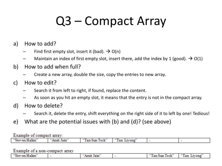 Q3 – Compact Array