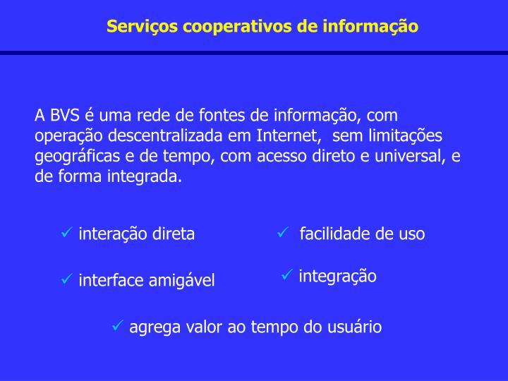 Serviços cooperativos de informação
