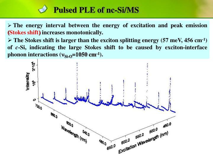 Pulsed PLE of nc-Si/MS
