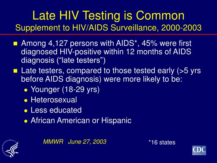Late HIV Testing is Common
