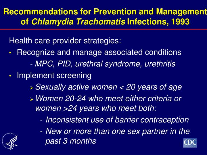 Recommendations for Prevention and Management of