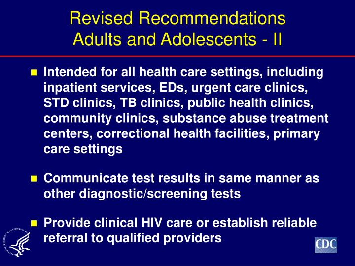 Revised Recommendations
