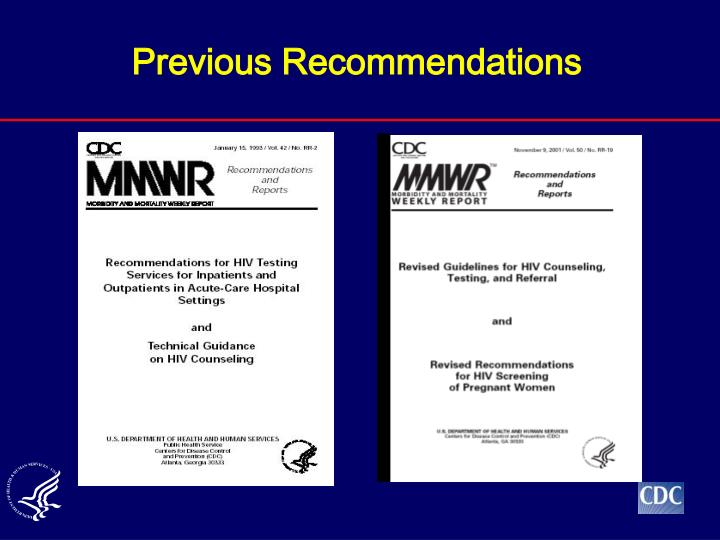 Previous Recommendations