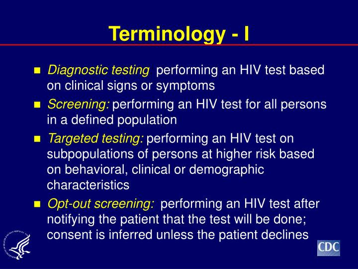 Terminology - I