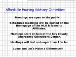 affordable housing advisory committee15