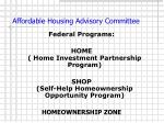 affordable housing advisory committee5