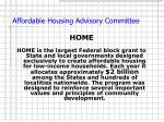 affordable housing advisory committee8