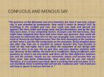 confucius and mencius say
