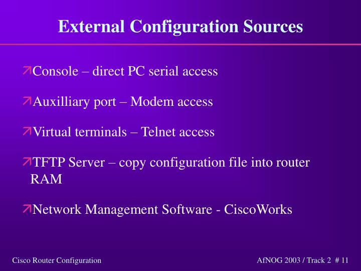 External Configuration Sources