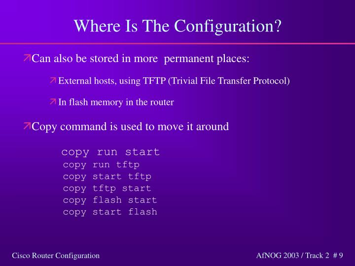 Where Is The Configuration?
