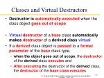 classes and virtual destructors
