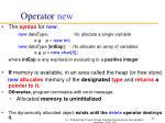 operator new