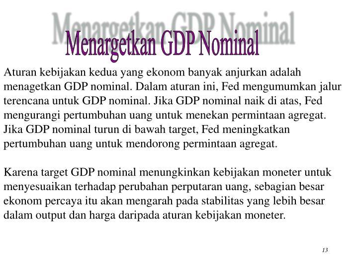Menargetkan GDP Nominal