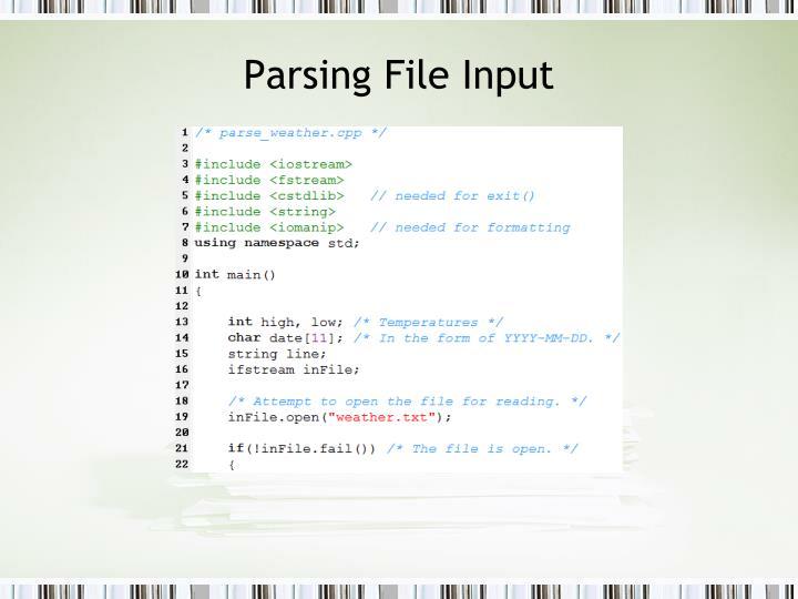 Parsing File Input