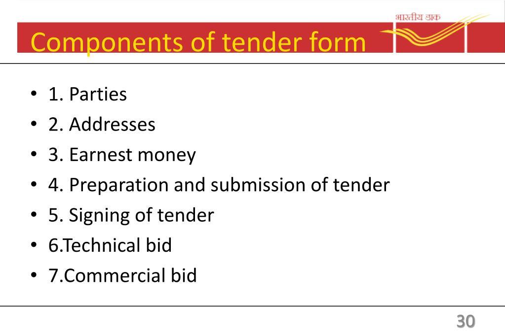 Tender Form