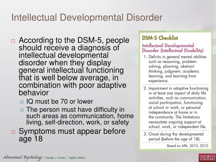 Intellectual Developmental Disorder