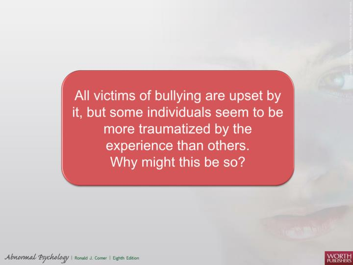 All victims of bullying are