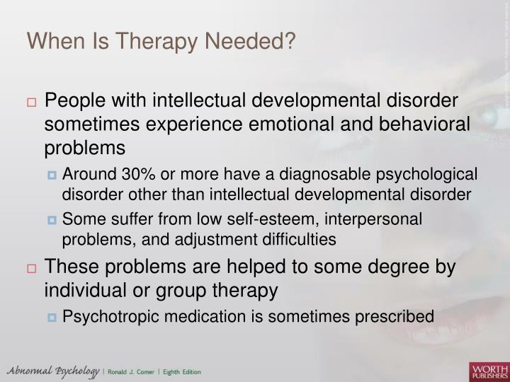 When Is Therapy Needed?