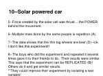 10 solar powered car