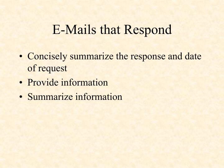 E-Mails that Respond