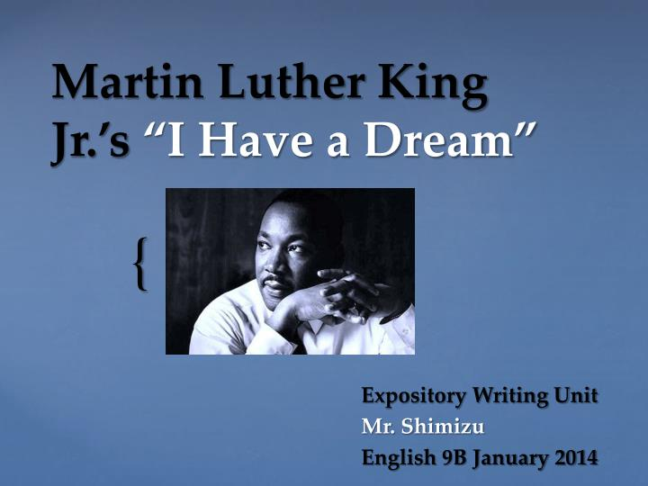 essays written by martin luther king Martin luther king (jr) was born on january 15, 1929 in atlanta (georgia) in the united states of america his parents were both learned men his mother was alberta christine williams and his father was named martin luther king his father was a pastor at ebenezer baptist church, there met his.