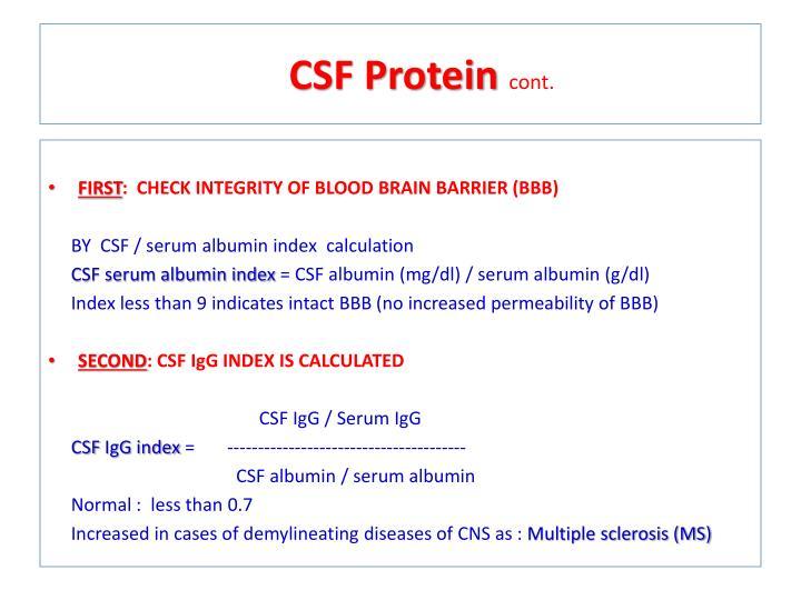 CSF Protein