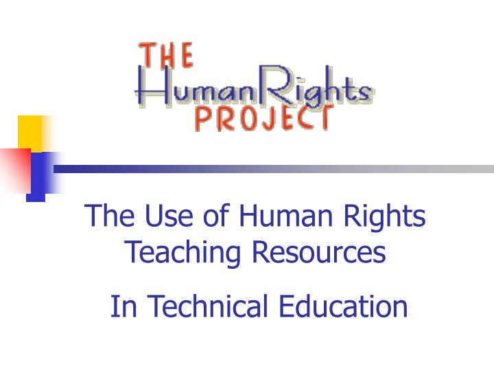 the use of human rights teaching resources n.