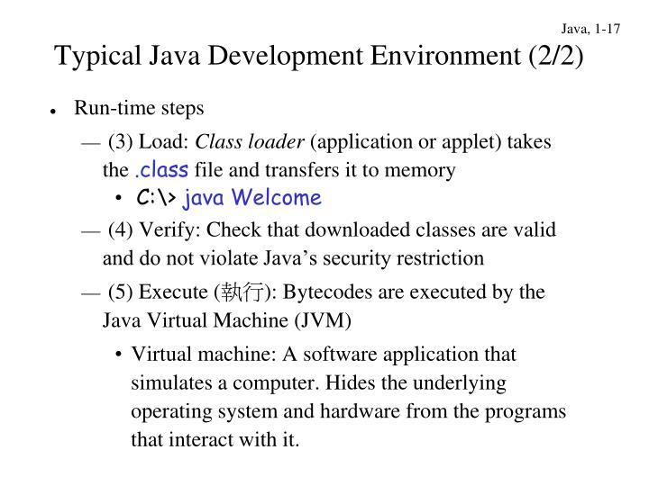 Typical Java Development Environment (2/2)