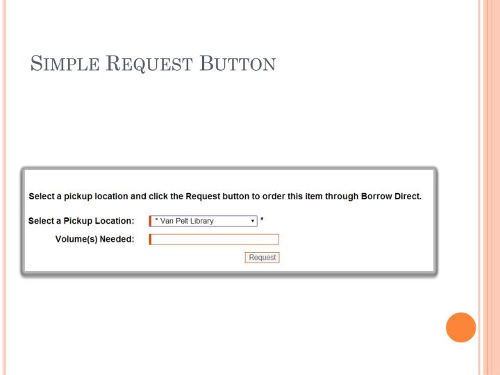 Simple Request Button