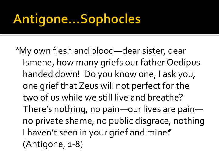which character is an archetype in antigone by sophocles