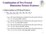 combination of two fractal dimension texture features