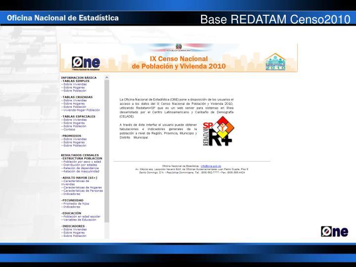 Base REDATAM Censo2010