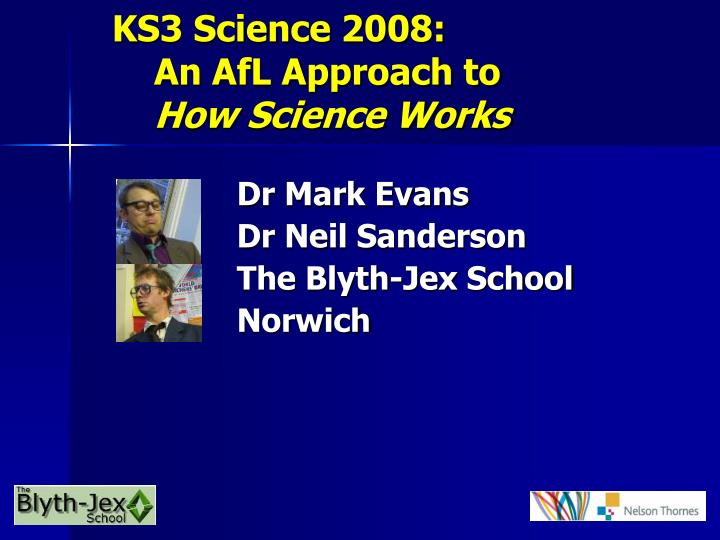 ks3 science 2008 an afl approach to how science works n.