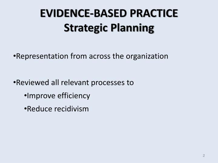Evidence based practice strategic planning