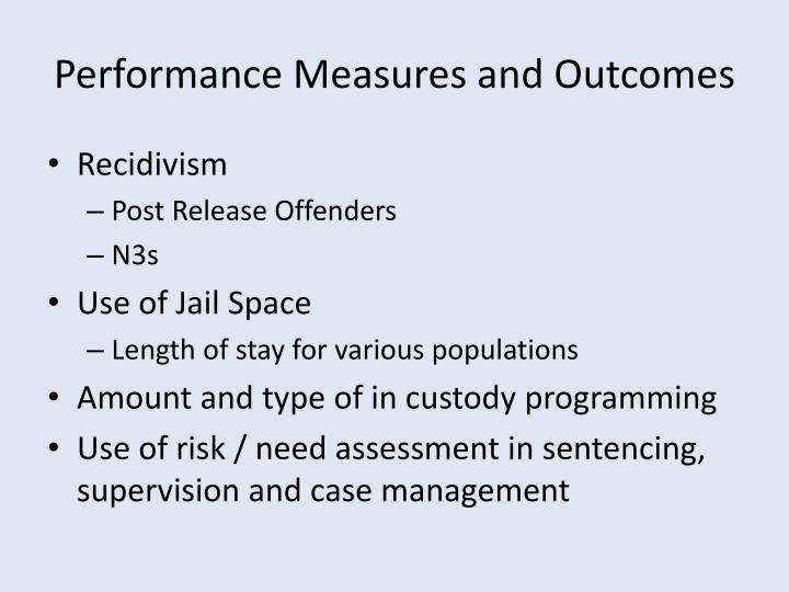 Performance Measures and Outcomes