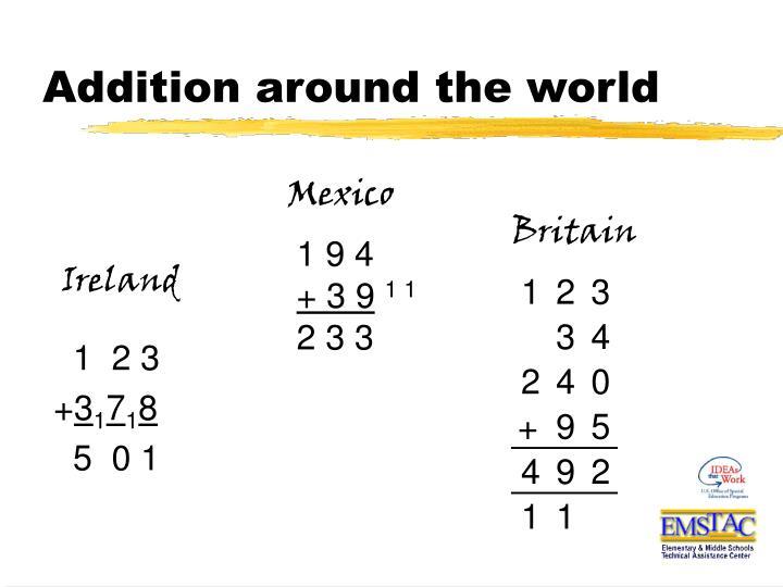 Addition around the world