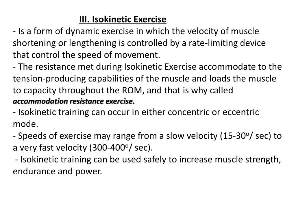 PPT - Active Resisted Exercise-part 1 PowerPoint