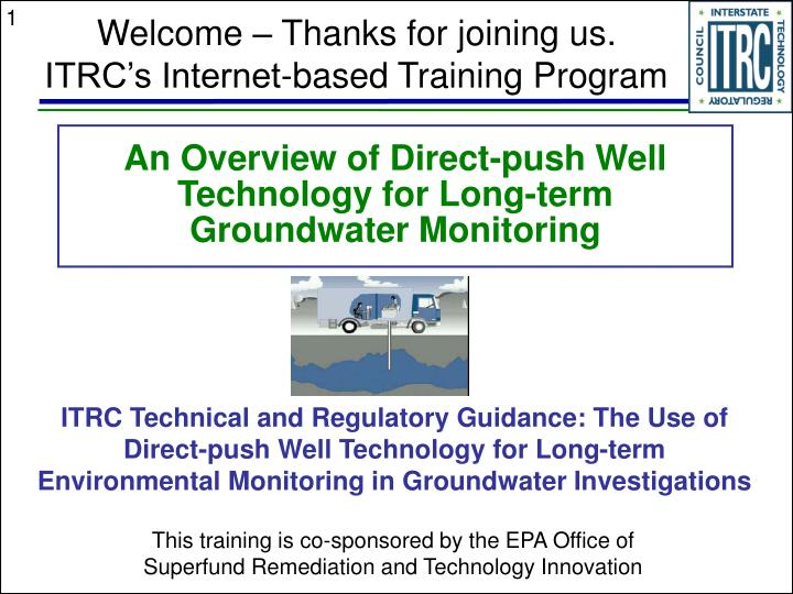 an overview of direct push well technology for long term groundwater monitoring n.