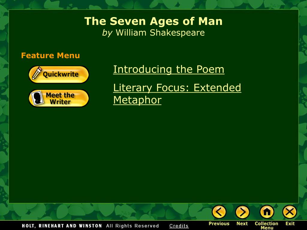 seven ages of man by william shakespeare full poem