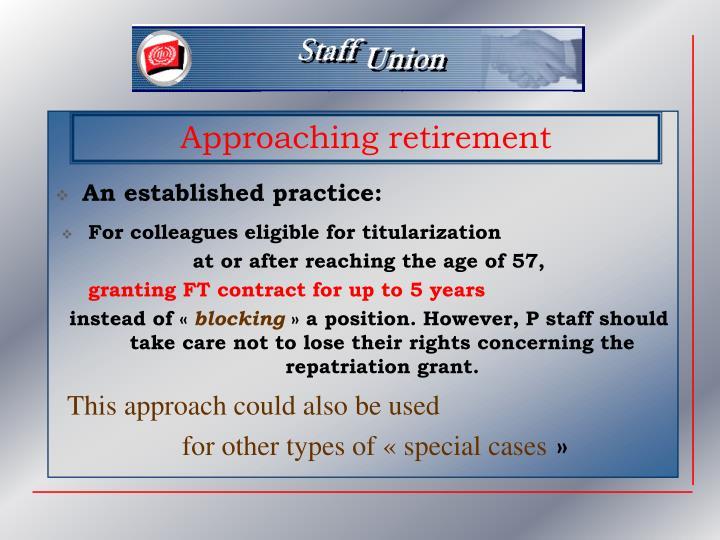An established practice: