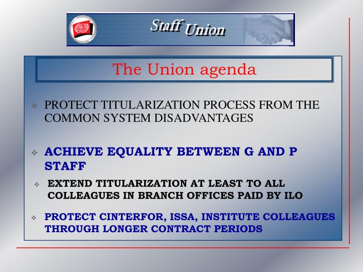 PROTECT TITULARIZATION PROCESS FROM THE COMMON SYSTEM DISADVANTAGES
