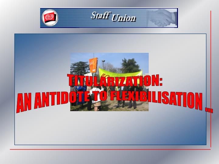 TITULARIZATION: