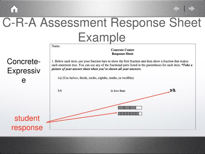 C-R-A Assessment Response Sheet Example
