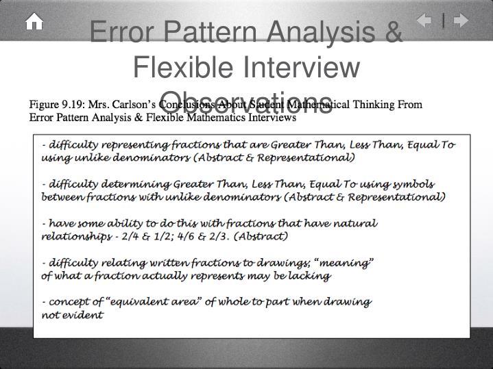 Error Pattern Analysis & Flexible Interview Observations