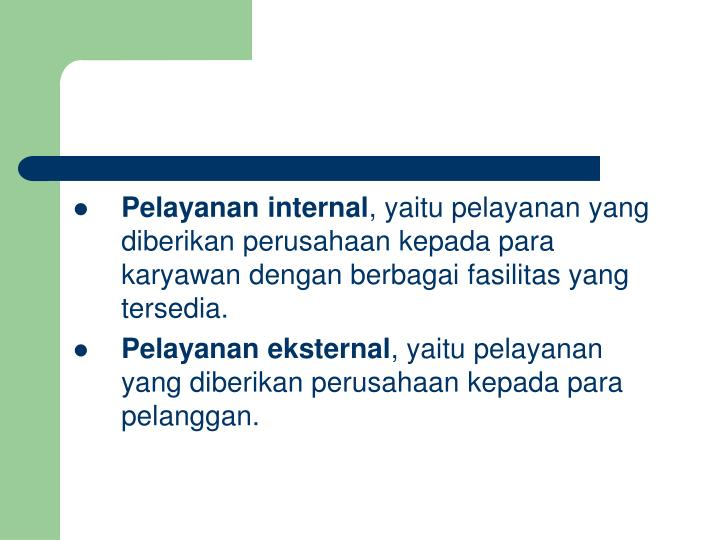 Pelayanan internal