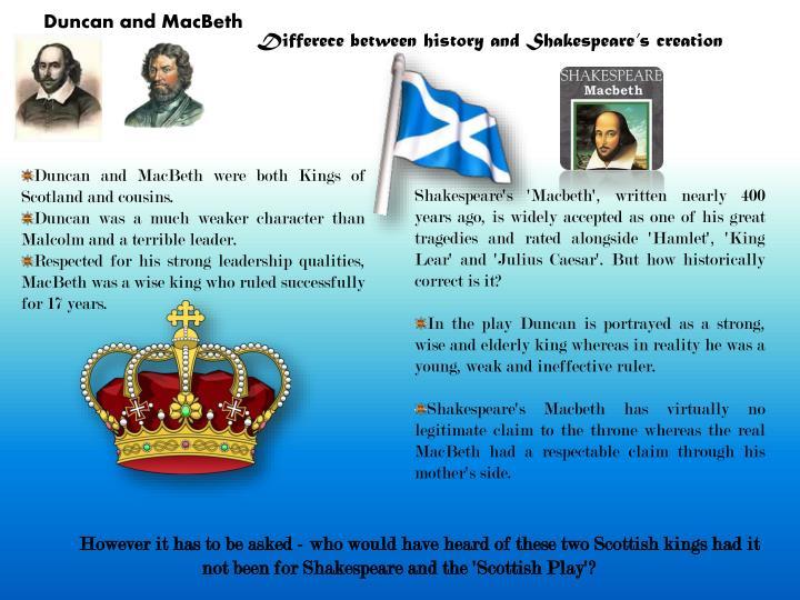 duncan i of scotland and macbeth