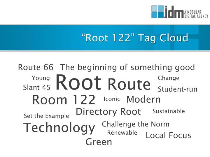 """Root 122"" Tag Cloud"