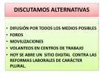 discutamos alternativas