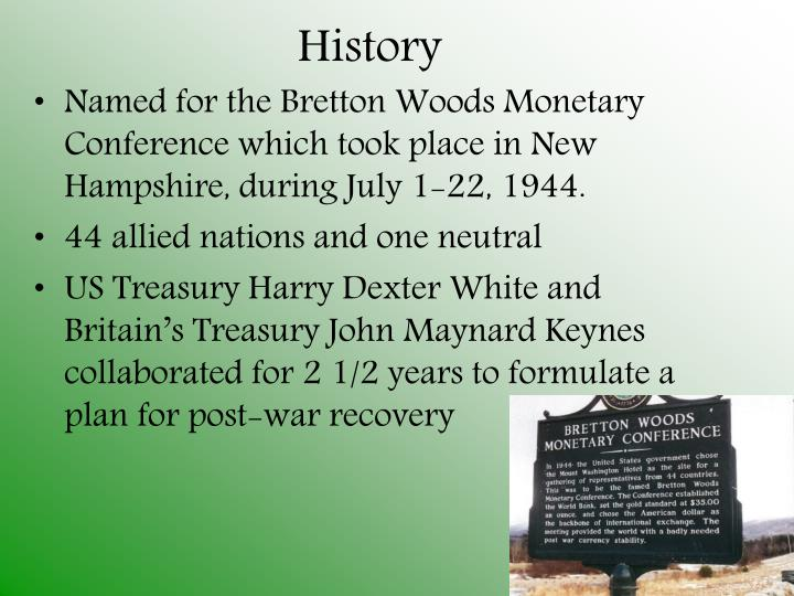 gold standard and bretton woods system