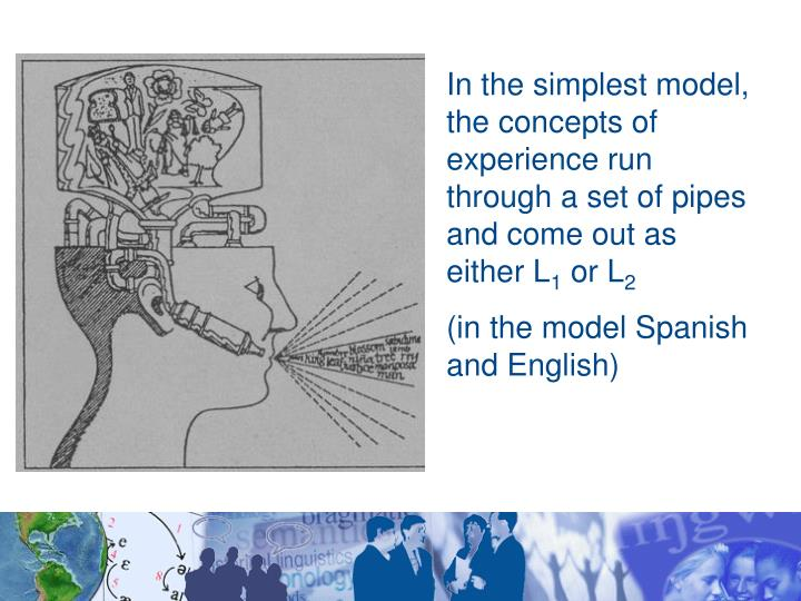 In the simplest model, the concepts of experience run through a set of pipes and come out as either L